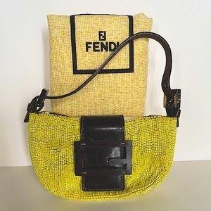 FENDI Mini Pochette Croissant Beaded handbag